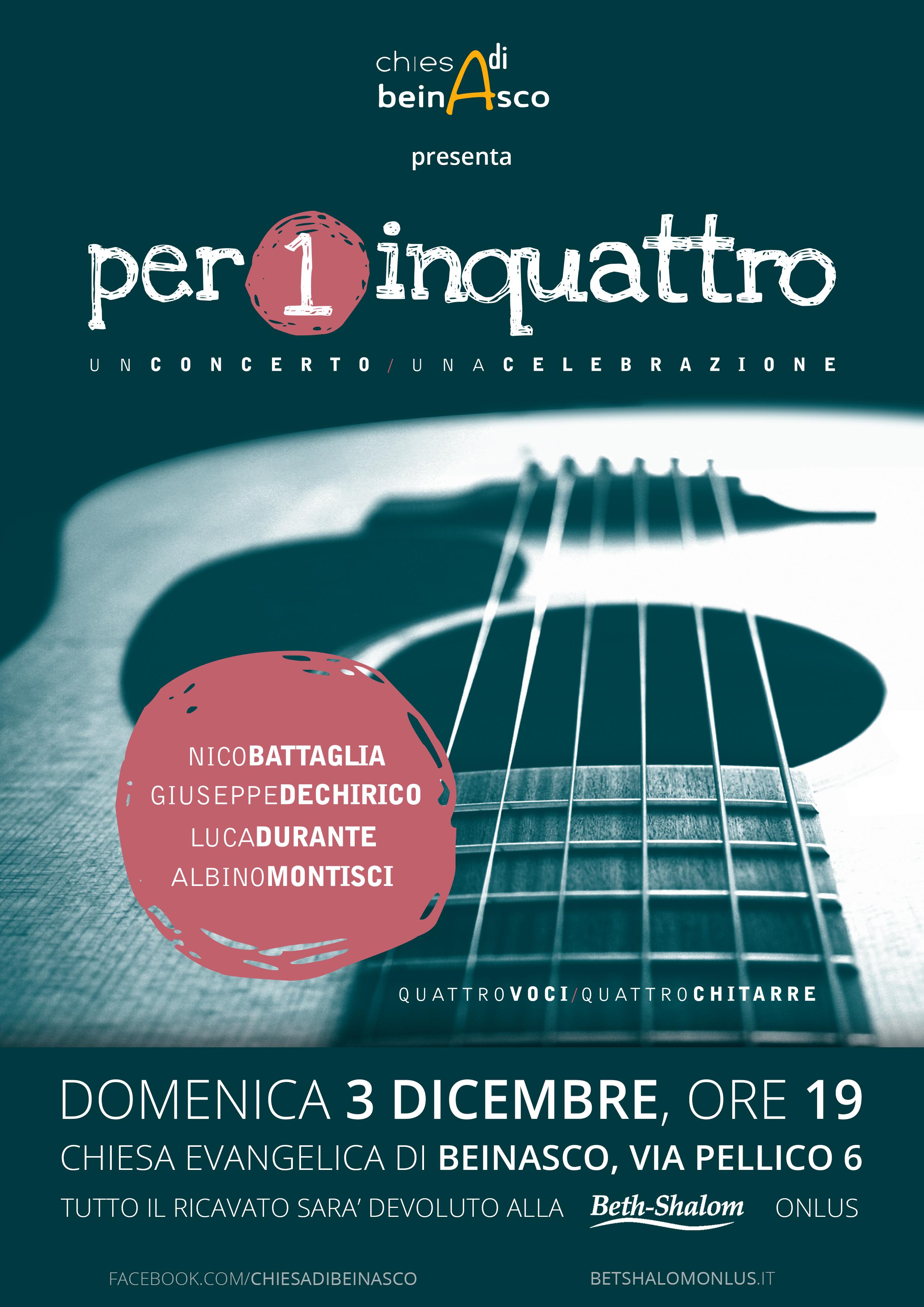 Concerto a Beinasco il 3 dicembre 2017 ore 19